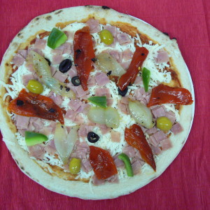 Pizza d'escalivada